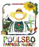 Poulsbo Farmers Market Colorful Logo